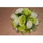 Elegant Satin Round Shape Wedding Bouquet /Bridal Bouquet
