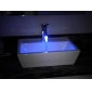 Sprinkle® - by lightinthebox - que cambia de color LED grifo lavabo del baño - con acabado cromo