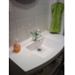 Bathroom Sink Faucets with Color Changing LED Waterfall Bathroom Sink Faucets (Glass Handle)