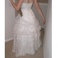 A-line/Princess Plus Sizes Wedding Dress - Ivory Floor-length Strapless Satin/Organza