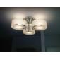 FINSTERWALDE - Lampadario moderno in acrilico in cromo con 7 lampadine