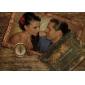 klassieke luxe gevouwen huwelijksuitnodiging met hart uitsparing (set van 50)