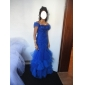 Prom/Formal Evening Dress - Silver Plus Sizes Trumpet/Mermaid Off-the-shoulder/Sweetheart Sweep/Brush Train Tulle/Lace