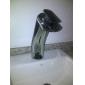 Contemporary Brass Waterfall Bathroom Sink Faucet (Tall)