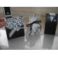Elfenbein und Schwarz blühen zugunsten Box mit Band (set of 12)
