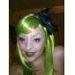 capless longue perruque de cheveux synthétiques verts