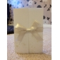 Wedding Invitation Vintage Embossed Tri-fold With Ribbon Bow (Set of 50)