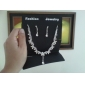 High Quality Czech Rhinestones With Alloy Plated Wedding Jewelry Set,Including Necklace And Earrings