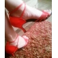 Non Customizable Women's Dance Shoes Latin/Ballroom Satin Stiletto Heel Red