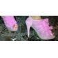 lace övre stilett klack / plattform med volanger bröllop skor fler färger