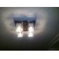 80W infällning med 4 lampor i kubisk kristall lampskärm (G4 lampa bas)