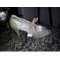 satin övre högklackade peep-toes med brud fönsterhasp bröllop skor