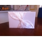 Wedding Guest Book and Pen Set With Ivory Satin Knot De Sign Sign In Book