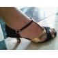 satin / konstläder övre balsal dansskor högklackade latinska skor för kvinnor