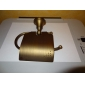Toilet Paper Holder Antique Brass Wall Mounted 75 x 195mm (2.95 x 7.68