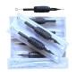 100 st svarta disponibla tattoo nålar och rör grepp leverans