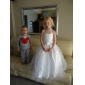 Ball Gown Floor-length Flower Girl Dress - Satin/Tulle Sleeveless