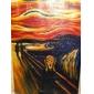HANDMÅLAD Känd / Abstrakta porträtt En panel Kanvas Hang målad oljemålning For Hem-dekoration