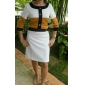 TS Color Block Wool Blended Dress