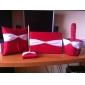 gras collection de mariage rouge sertie d'ivoire châssis et strass (4 pièces)