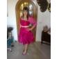 HELAH - Vestido de Dama de honor de Tafetán