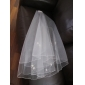 2 Layers Beautiful Elbow Wedding Veil