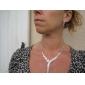 prachtige tsjechische strass legering verzilverd bruiloft halsketting en oorbellen sieraden set