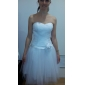 Ball Gown Plus Sizes Wedding Dress - Ivory Knee-length Sweetheart Tulle