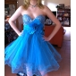 Cocktail Party/Prom/Sweet 16/Holiday Dress - Pool Plus Sizes A-line/Princess Strapless/Sweetheart Short/Mini Sequined/Tulle