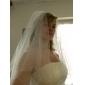 Voal de Nuntă Două Straturi Voaluri Lungi Până la Cot / Voaluri pentru Păr Scurt Margine cu Mărgele / Margine dantelată 31.5 in (80cm) Tul
