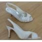 Dame Bryllup sko Slingback Sandaler Bryllup Svart/Rosa/Rød/Elfenbenshvit/Hvit/Sølv/Gull