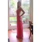 Formal Evening/Military Ball Dress - Watermelon Plus Sizes Sheath/Column Halter Floor-length Chiffon