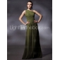 Prom/Military Ball/Formal Evening Dress - Clover Plus Sizes Sheath/Column One Shoulder Floor-length Chiffon
