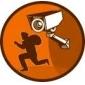 dummy säkerhet kupolkamera med blinkande röda lysdioden