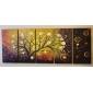 handmålade abstrakta oljemålningar med sträckt ram - set om 5