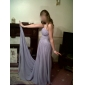 Formal Evening/Military Ball Dress - Lavender Plus Sizes Sheath/Column Strapless/Spaghetti Straps Sweep/Brush Train Chiffon