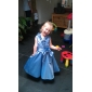 A-line/Princess Tea-length Flower Girl Dress - Taffeta Sleeveless