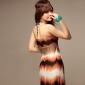 Halter/V-neck Chiffon Maxi Dress (More Colors)