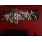 HANDMÅLAD Abstrakt Fem paneler Kanvas Hang målad oljemålning For Hem-dekoration