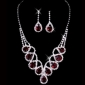 Luxurious Rhinestone Ladies' Jewelry Set Including Necklace And Earrings