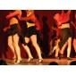 negro traje de flamenca viscosa latin dance falda para las damas