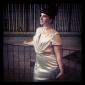 저녁 정장파티/밀리터리 볼 드레스 - 블랙 트럼펫/멀메이드 스위프/브러쉬 트레인 V넥/하이넥 엘라스틱 실크같은 사틴 플러스 사이즈