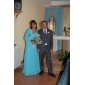 저녁 정장파티/밀리터리 볼 드레스 - 스카이 블루 A라인/프린세스 바닥 길이 원 숄더 쉬폰