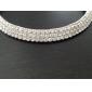 høj kvalitet tjekkisk rhinestones legering belagt bryllup halskæde og øreringe smykker sæt