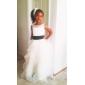 CAMERON - Bloemenmeisjesjurk van Organza en Satijn