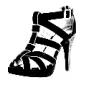 similicuir supérieure grosses chaussures heelgladiator partie sandales (1180-1312198016) plus de couleurs disponibles