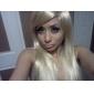 ekstra lang rett lys blondt hår parykk