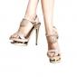 konstläder övre stilettklack sandaler med rhinestone fest / kväll shoes.more färger