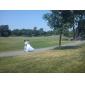 Lanting princesse mariée petite / tailles plus robe de mariée-parole longueur v-cou tulle