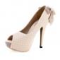 similicuir pompes supérieure talon aiguille avec le parti bowknot / chaussures de soirée plus de couleurs disponibles